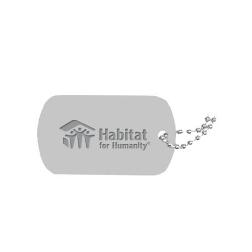 Silver Dog Tag Necklace Engraved