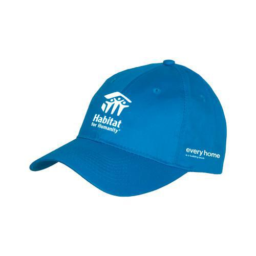 Sapphire Blue Pro Style Hat Stacked Logo
