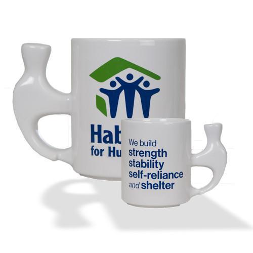 White Ceramic Hammer Mug