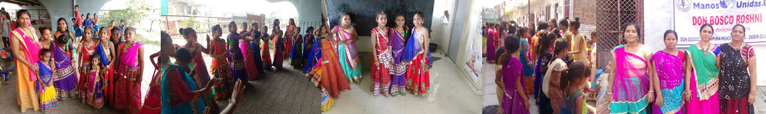 NAVRATRI  Festival Celebration with Slum Children