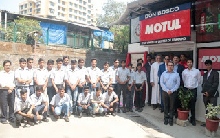 Motul - Atlantic Lubricants and Specialties partners with Don Bosco and sets up two-wheeler centre for learning at Kurla''