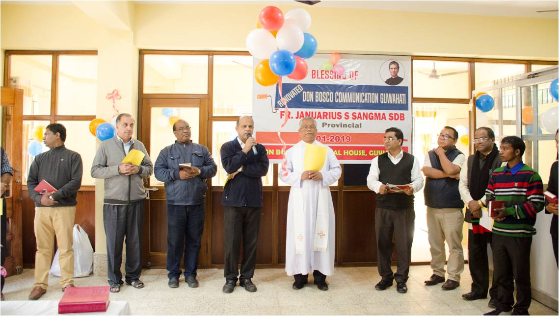 Newly renovated Don Bosco Communications Centre blessed at Guwahati